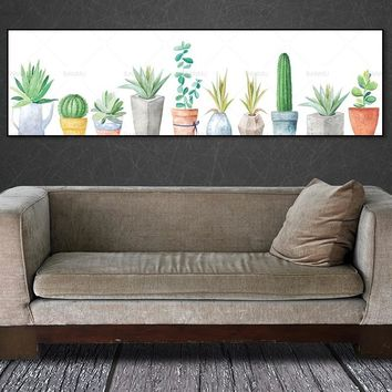 wall picture canvas painting art print plant on canvas and posters picture wall art Painting decoration for living room no frame