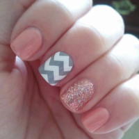 LARGE PATTERN Chevron Nail Decals Set of 20 by MakeitStickDesigns