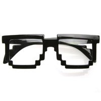 Waldorff's: Pixelated 8-Bit Clear Lens Geek Glasses $2.00