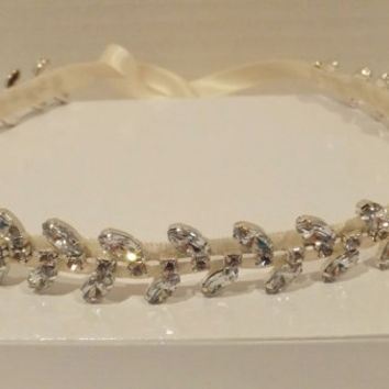 Bridal Rhinestone Headband GRECIAN Bridal by BellaCescaBoutique