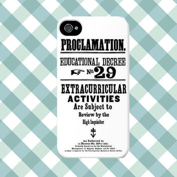 Umbridge's Educational Proclamations iPhone Case -  from Harry Potter