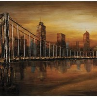 Ren-Wil City Lights Oil-Painting