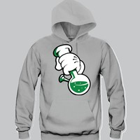 Bong Mickey Hands Unisex Hooded Sweatshirt Funny and Music