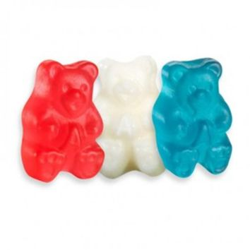 Patriotic USA Red, White, & Blue Gummy Bears: 5LB Bag