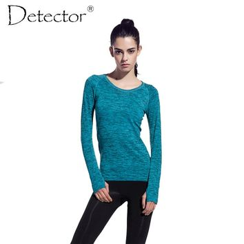 Women Sports Compression Long Sleeve T shirt Women's Fitness Running Cycling Gym Jersey Clothes Quick Dry Thermal Base Layer