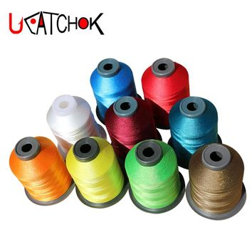 1pcs/pack 1500M 210D Rod Guide Ring Tying Thread 12colors Rod DIY Repair Braided Line guide refit replacement fasten wrap thread