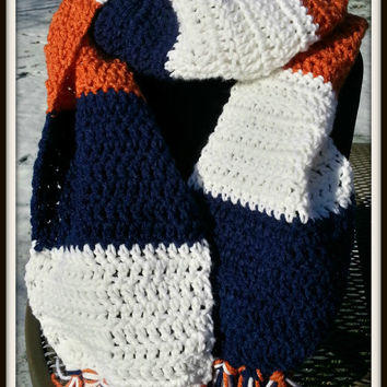 Chicago Bears Scarf for Men and Women Rugby Scarf Denver Broncos Illini Scarf Multicolor Unisex