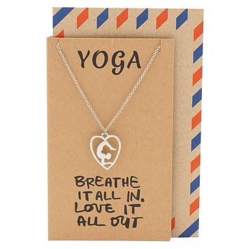 Piper Scorpion Yoga Pose Open Heart Necklace, Yoga Gifts