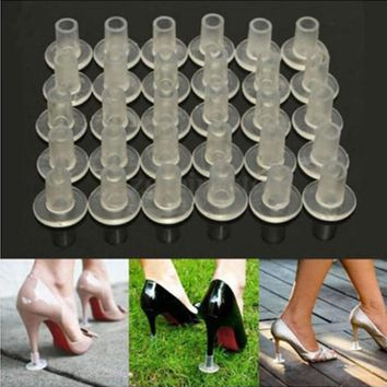 1 Pair High Heel Protectors Cover Latin Dancing Heel Covers Stoppers Antislip Silicone High Heeler For Wedding Favor Soft
