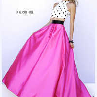 Crop Top Sherri Hill Polka Don't Prom Gown 32210
