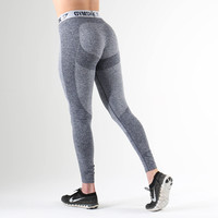 Gymshark Flex Leggings - Sapphire Blue Marl/Light Grey