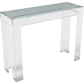 Console Parsons  Table, Small, Acrylic / Lucite, Console Table