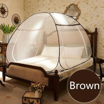 Round Lace Curtain Dome Mosquito Net For Double Bed ,Princess Style Folding Netting Tent Bed,Anti Mosquito Bed Canopy ,klamboe
