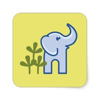 Elephant in the Jungle Stickers