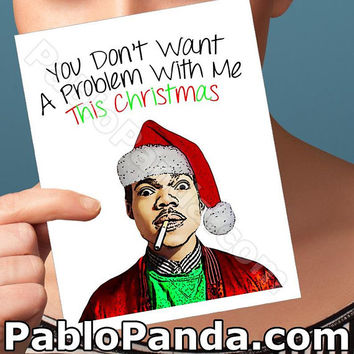 Holiday Cards | No Problem | Chance The Rapper Acid Rap Christmas Gift Husband Christmas Girlfriend Card Boyfriend Card Boyfriend Gift Card