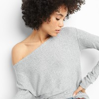 Softspun Ribbed Long Sleeve Boatneck Top|gap