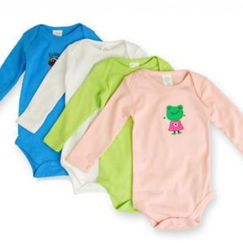 1pc Newborn Baby Clothes Unisex 100% Cotton Newborn Baby Rompers Long Sleeve Body Baby Girl Clothes Boy Baby Costume