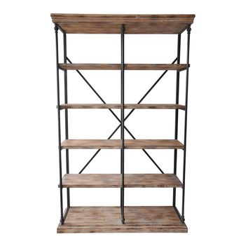 La Valle Metal & Wood Bookshelf