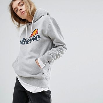 Ellesse Boyfriend Hoodie With Chest Logo at asos.com