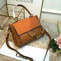 Women Genuine Leather Crossbody Shoulder Purse Chain Link FY Bag