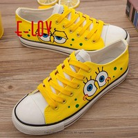 Women sneakers 2018 new arrivals fashion lace-up black/white women shoes solid sewing shallow casual canvas shoes women 699