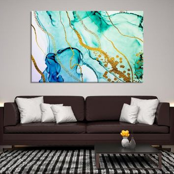 37632 - Modern Wall Art | Ink Painting Art | Impressionism Art | Creative Wall Art | Abstract Wall Art | Large Abstract Canvas