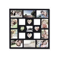 "Decorative Black Wood ""Love"" Wall Hanging Collage Picture Photo Frame"