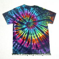 SALE! Medium Tie Dye Shirt Inverted Rainbow Spiral