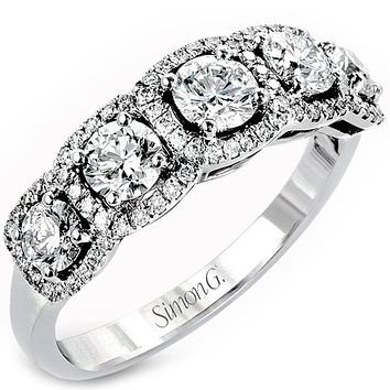 "Simon G. Five Stone Diamond ""Halo"" Anniversary Ring"