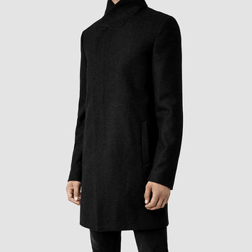 Mens Mire Coat (Charcoal) | ALLSAINTS.com