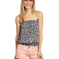 O'Neill Juniors Michi Tube Top, Grey, X-Large