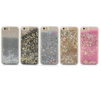 Fashional Luxury Dynamic Liquid Glitter Star Quicksand Colorful Sequin Back cover Hard Phone Cases for iphone 4 4S YC1139