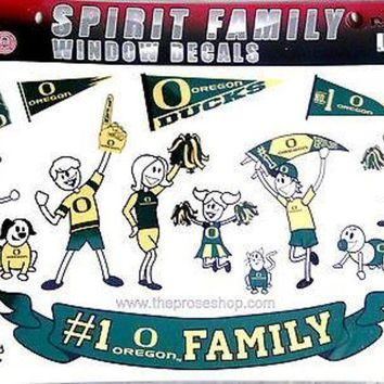 DCCKIHN Oregon Ducks Family Spirit Window Stickers Decal Decals Sheet University of