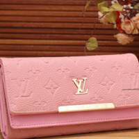LV fashion trend printing leather long wallet[380326412324]