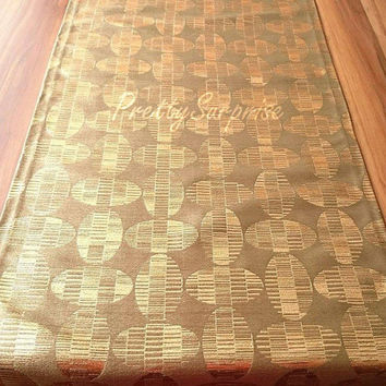 New!! Olive Green Decorative Table Runner, Wedding Table Runner, Shiny Table Cover, Dinner Decor, Dining Table Cover,
