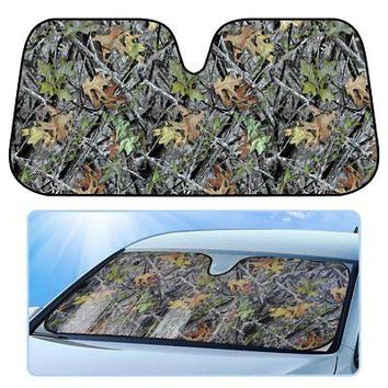 Licensed Official Real Tree Camouflage Car Truck Front Window Windshield Accordion Large SunShade