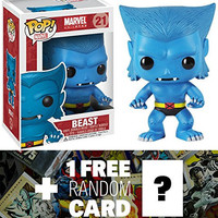 Beast: Funko POP! x Marvel Universe Vinyl Bobble-Head Figure + 1 FREE Official Marvel Trading Card Bundle [30548]
