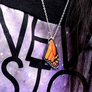 Butterfly wing necklace, Monarch butterfly wing necklace, Butterfly wing, Wing necklace, Monarch butterfly, Motherrs day gift, spring jewelr
