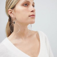 ASOS DESIGN Resin Disc Drop Earrings at asos.com