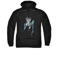 Catwoman Holding Jewel Mens Pullover Hoodie