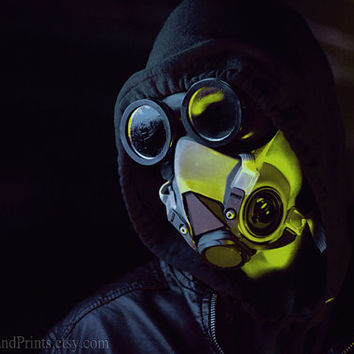 Machine Angel, Gas Mask Photography, Portrait Fine Art Print, Dark Wall Art, Post Apocalyptic Decor, Fallout Photography, Gamer Decor