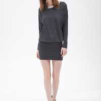 FOREVER 21 Drop Waist Sweater Dress