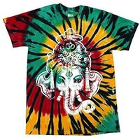 Yoga Clothing for You Mens Big Ganesha Tie Dye Tshirt