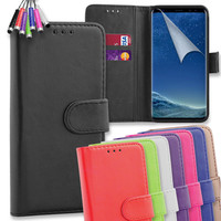 Premium Flip Leather Wallet Case Cover For Samsung Galaxy A5 2017 + Mini Stylus | eBay