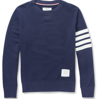 Thom Browne - Printed Loopback Cotton-Jersey Sweatshirt | MR PORTER