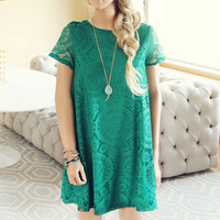 The Santa Clara Lace Dress in Green