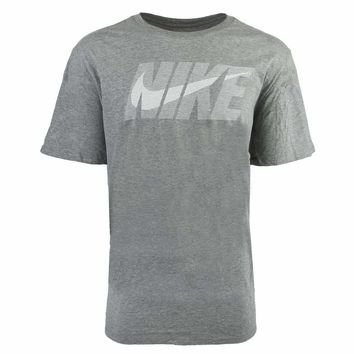 Nike Male Swoosh T-Shirt, Gray (Size S, M, 2XL)