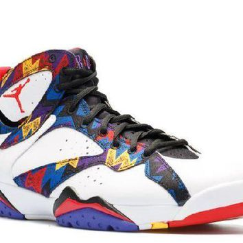 PEAPN Ready Stock Nike Air Jordan 7 Retro Nothing But Net Basketball Sport Shoes