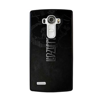 led zeppelin lyric lg g4 case cover  number 1