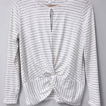 Stripes and Twists Top